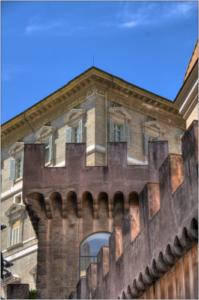 passaggio con torre hdr colore roma-marioiscra