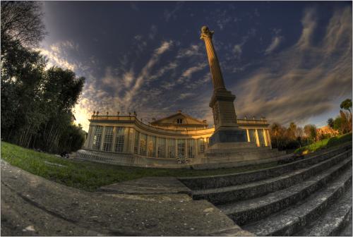 villa torlonia teratro con obelisco hdr colore-marioiscra