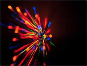lampi di luce hdr