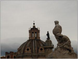 prospettiva statue romane