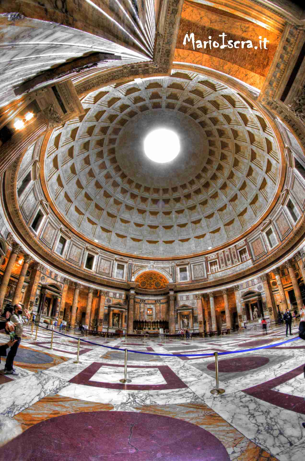 interno pantheon roma hdr