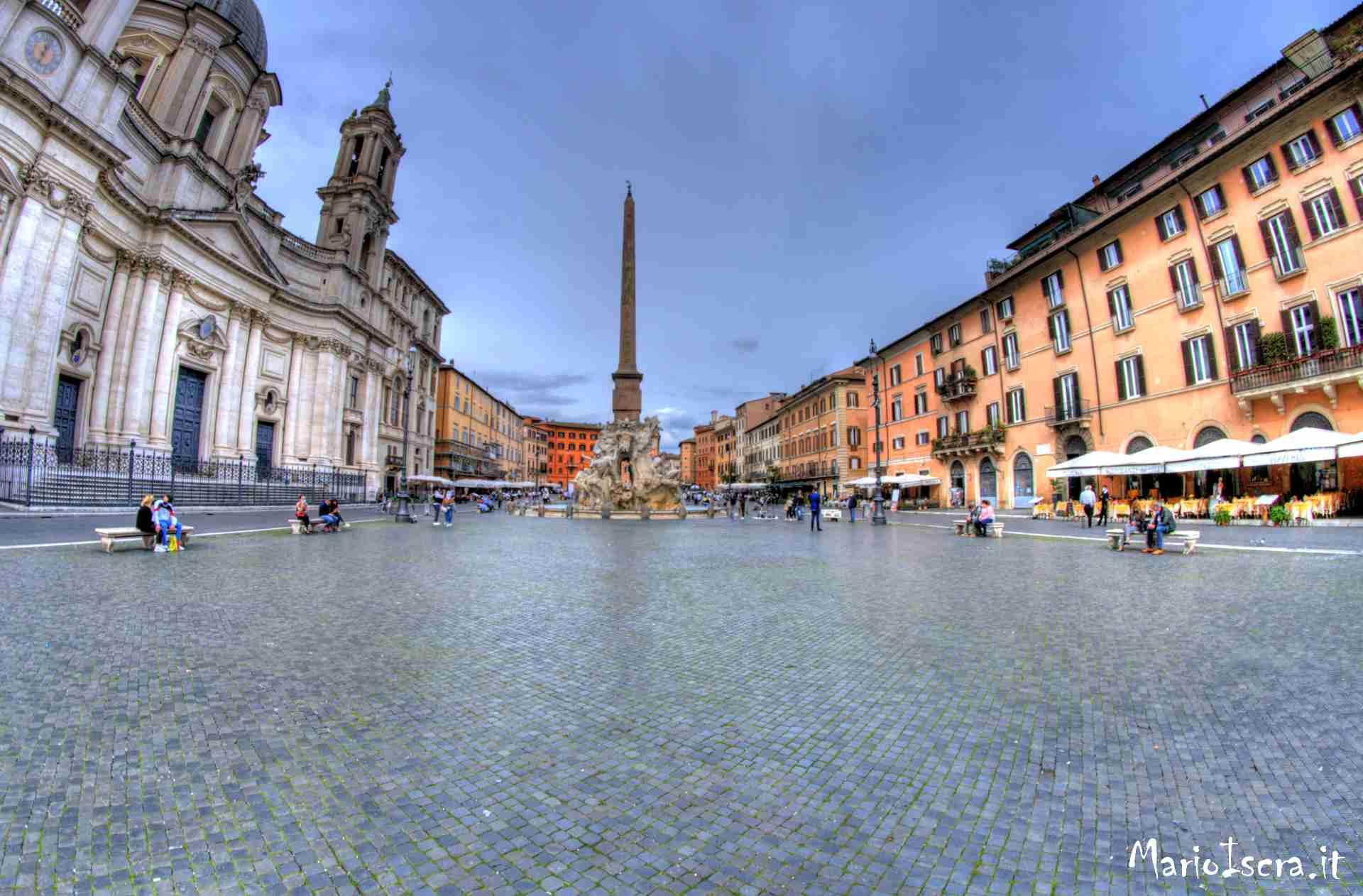 veduta piazza navona roma