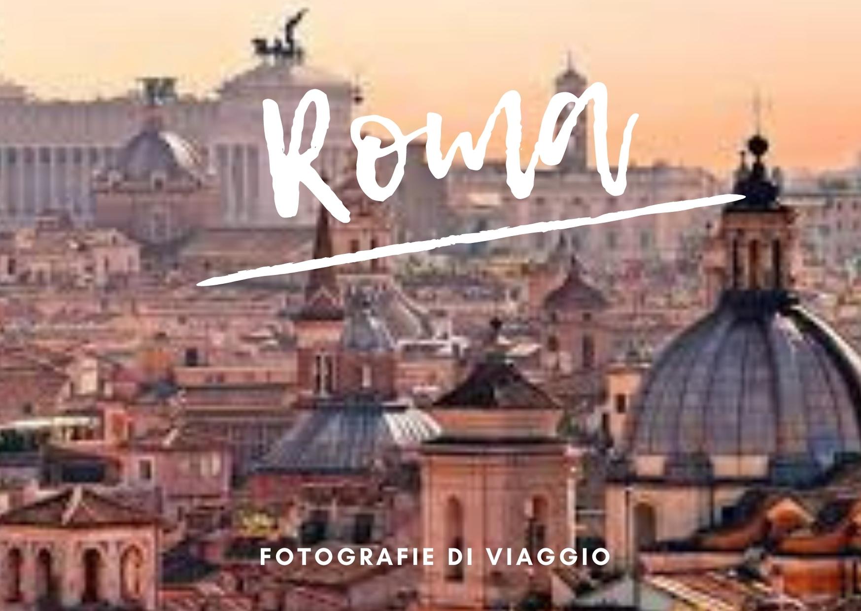 progetti di viaggio cartolina roma