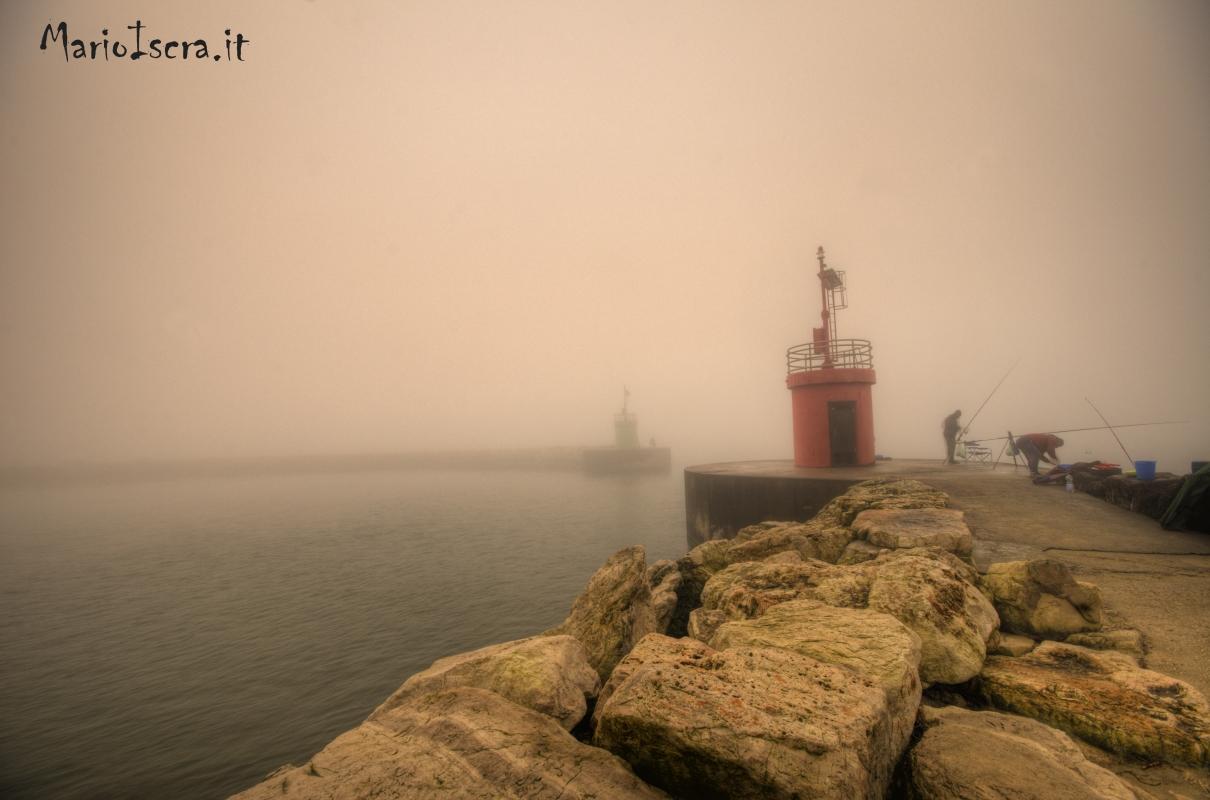 porticciolo con la nebbia