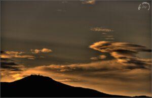 tramonto sui castelli